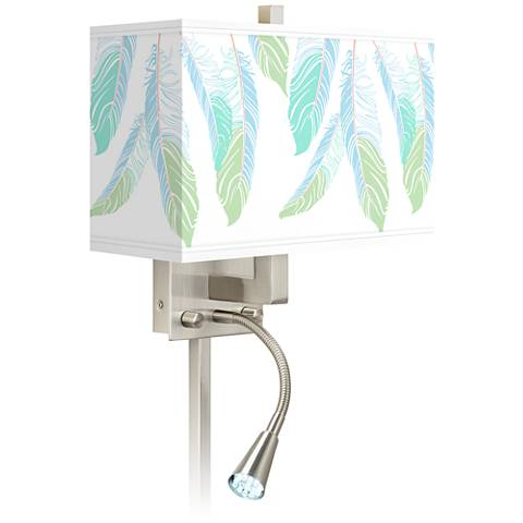 Light as a Feather Giclee Glow LED Reading Light Plug-In Sconce