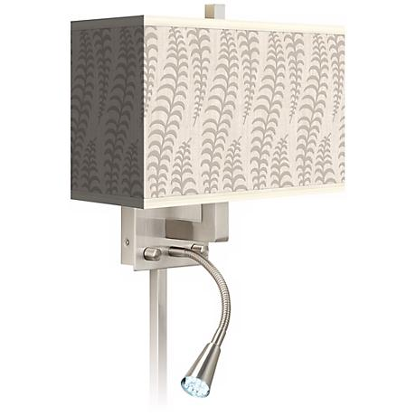 Stacy Garcia Fancy Fern Ice LED Reading Light Plug-In Sconce