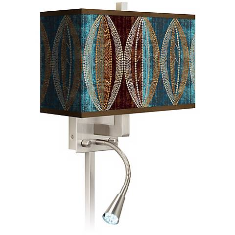 Stacy Garcia Pearl Leaf Peacock LED Light Plug-In Sconce