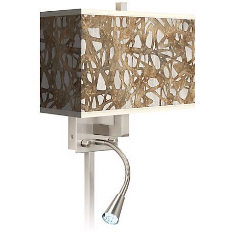 Organic Nest Giclee LED Reading Light Plug-In Sconce