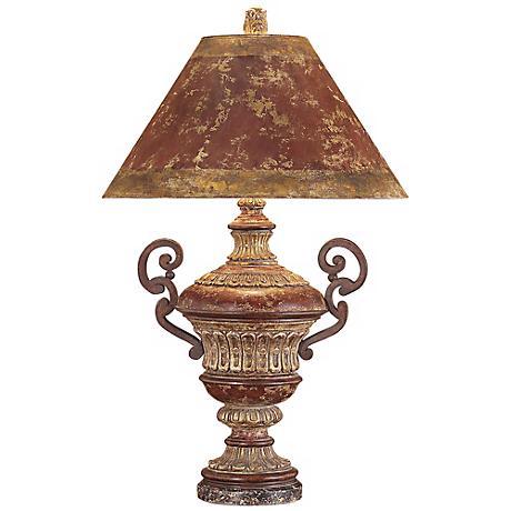John Richard Hand Painted Urn Table Lamp