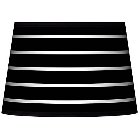 Bold Black Stripe Tapered Lamp Shade 13x16x10.5 (Spider)