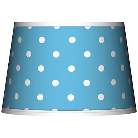 Mini Dots Aqua Tapered Lamp Shade 13x16x10.5 (Spider)