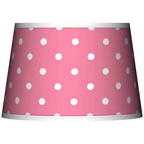 Mini Dots Pink Tapered Lamp Shade 13x16x10.5 (Spider)