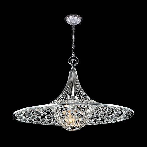 "James R. Moder Excelsior Chrome 17"" Wide Crystal Chandelier"
