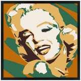 """Classic Blonde II 31"""" Square Black Giclee Wall Art"""
