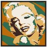 """Classic Blonde II 37"""" Square Black Giclee Wall Art"""