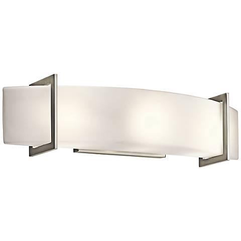 "Kichler Crescent View 24"" Wide Brushed Nickel Bath Light"