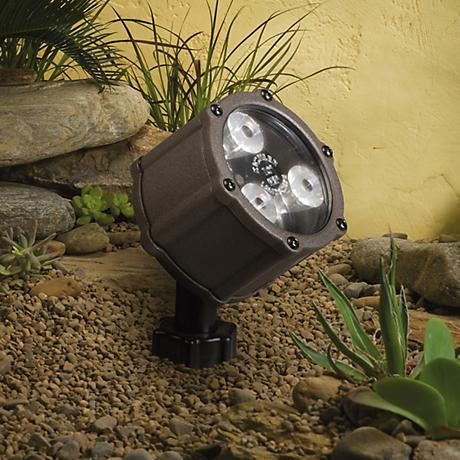 "Kichler Architectural Bronze 3 1/2"" High LED Spotlight"