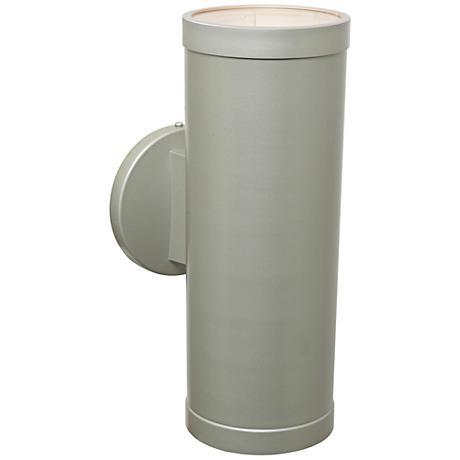 "Poseidon 12 1/4""H Satin Up/Down CFL Outdoor Wall Light"
