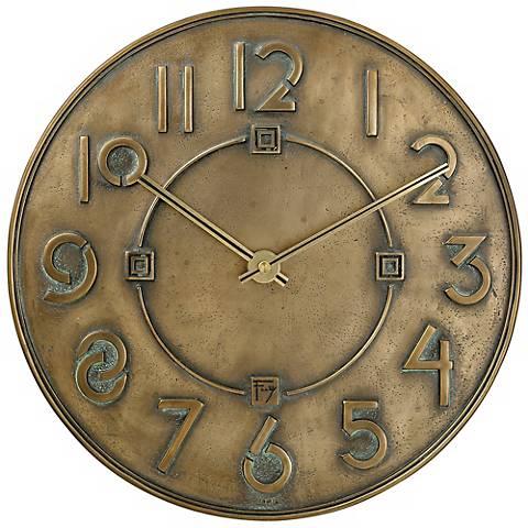 "Bulova 11"" High Frank Lloyd Wright Exhibition Typeface Clock"