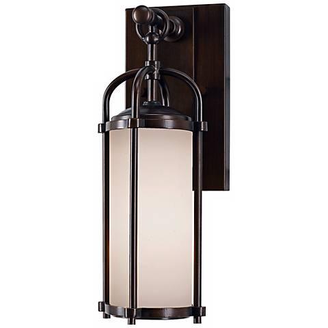 """Feiss Dakota Espresso 13 1/4"""" High Outdoor Wall Light"""
