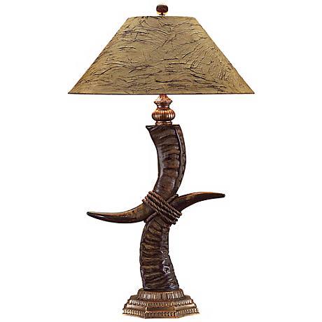 John Richard Stacked Horn Table Lamp