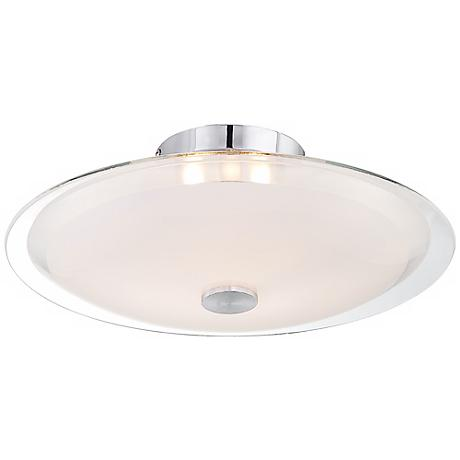 """Possini Euro Glass Disk 15"""" Wide Round Ceiling Light"""