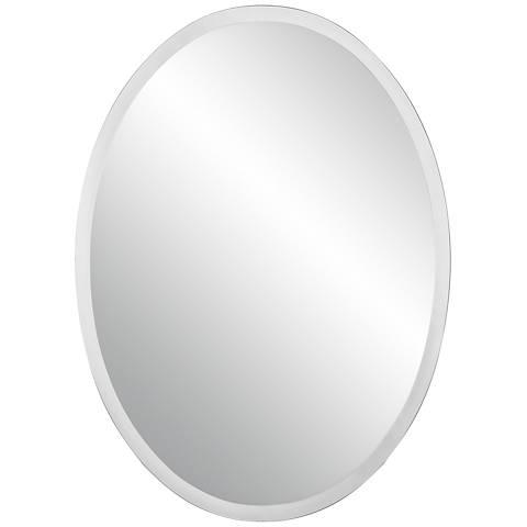 "Oval Regency 48"" High Beveled Mirror"