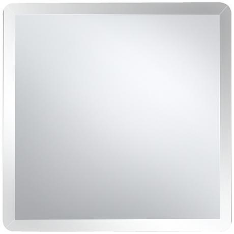 "Square Frameless 24"" Wide Beveled Mirror"