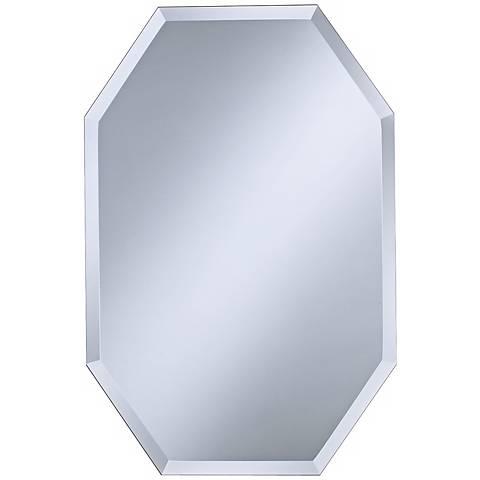 """Octagonal Frameless 30"""" High Beveled Wall Mirror"""