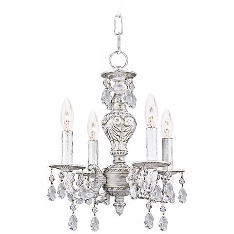 """Crystorama Sutton Collection White 15"""" High Chandelier"""
