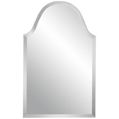 "Crown Arch Frameless 32"" High Beveled Wall Mirror"