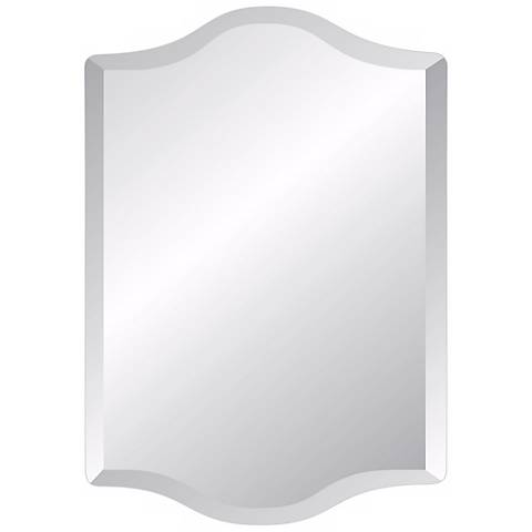"Double Crown Frameless 36"" High Beveled Mirror"