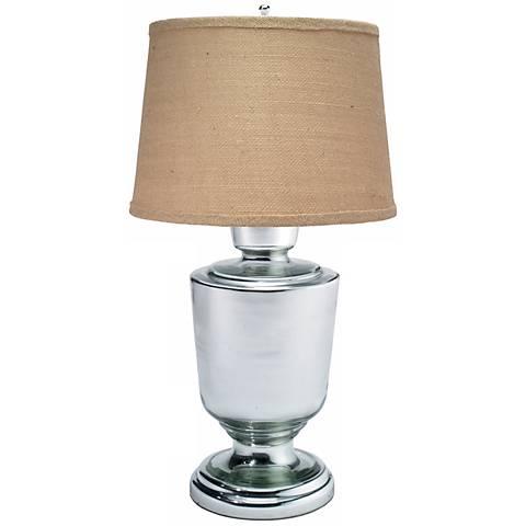 Large Laffite Mercury Glass Table Lamp