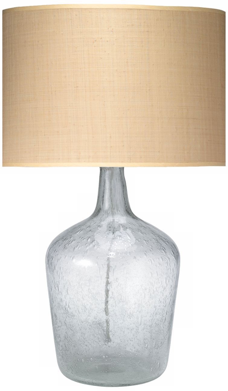 Jamie Young Medium Clear Glass Plum Jar Table Lamp P2487