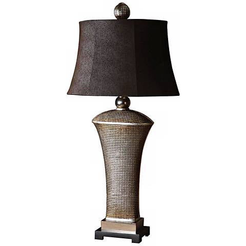 Uttermost Afton Antiqued Silver Champagne Table Lamp