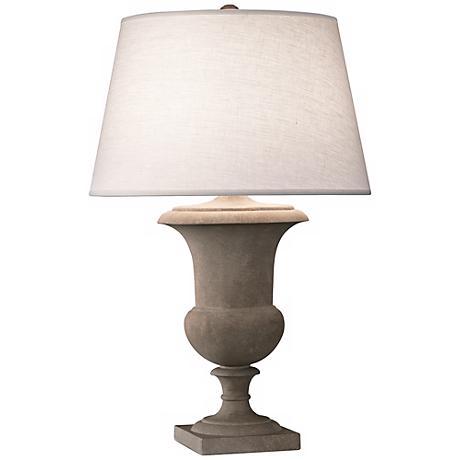 "Robert Abbey Helena Faux Limestone 30"" High Table Lamp"