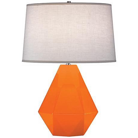 """Robert Abbey Delta Pumpkin 22 1/2"""" High Table Lamp"""