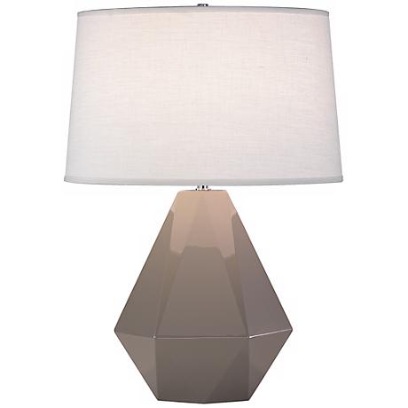 """Robert Abbey Delta Smokey Taupe 22 1/2"""" High Table Lamp"""