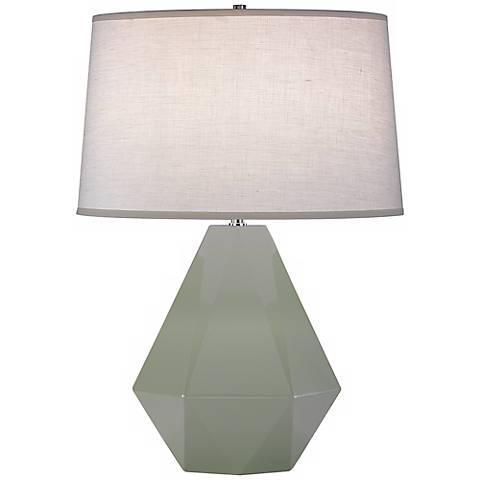 """Robert Abbey Delta Celadon 22 1/2"""" High Table Lamp"""