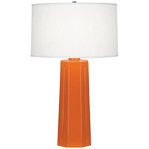 "Robert Abbey Mason Pumpkin 26"" High Table Lamp"