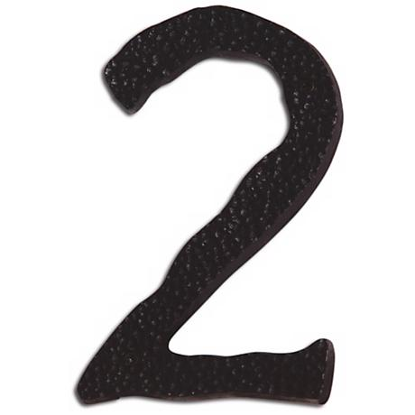 Hammered Aged Bronze Finish House Number 2