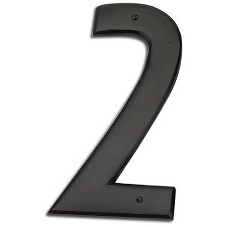 Mission Aged Bronze Finish House Number 2