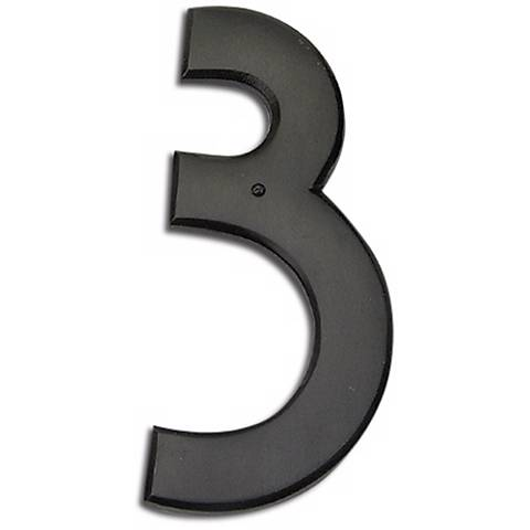 Mission Aged Bronze Finish House Number 3
