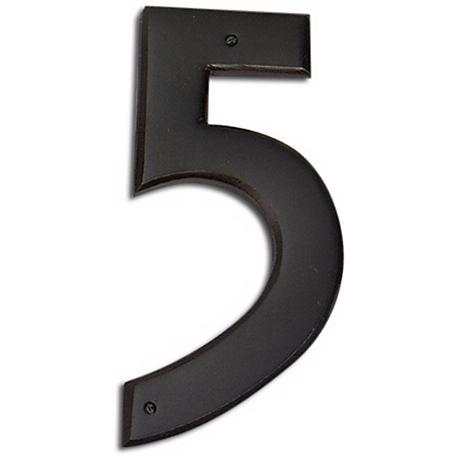 Mission Aged Bronze Finish House Number 5
