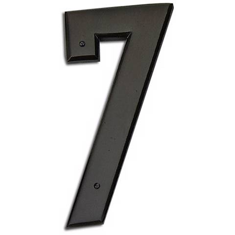 Mission Aged Bronze Finish House Number 7