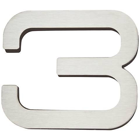 Paragon Collection Stainless Steel House Number 3