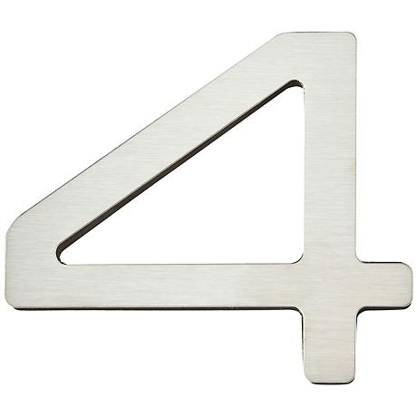 Paragon Collection Stainless Steel House Number 4