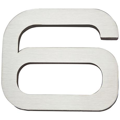 Paragon Collection Stainless Steel House Number 6