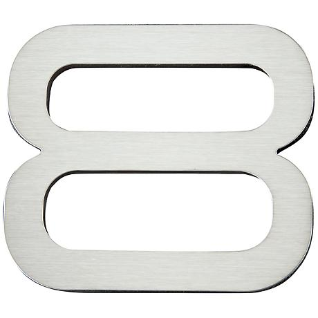 Paragon Collection Stainless Steel House Number 8