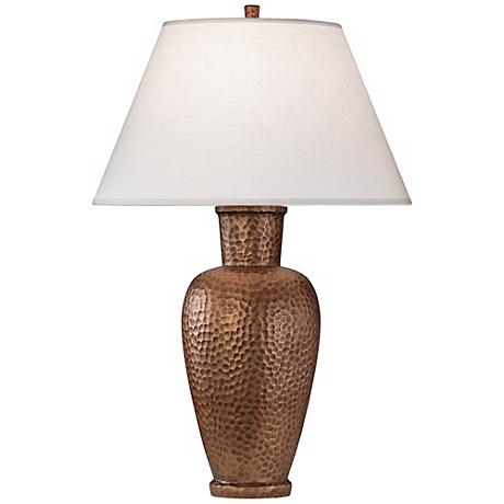 "Robert Abbey Beaux Arts Copper 31"" High Table Lamp"