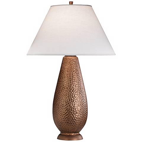 "Robert Abbey Beaux Arts Copper 34"" High Table Lamp"
