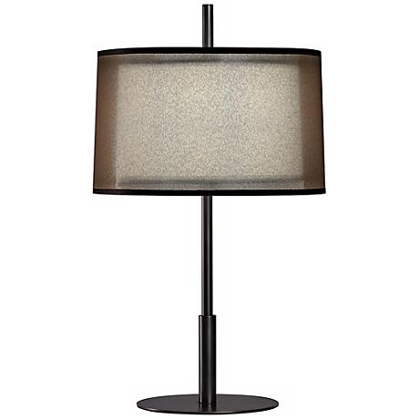 "Robert Abbey Saturnia Bronze 22 1/2"" High Table Lamp"