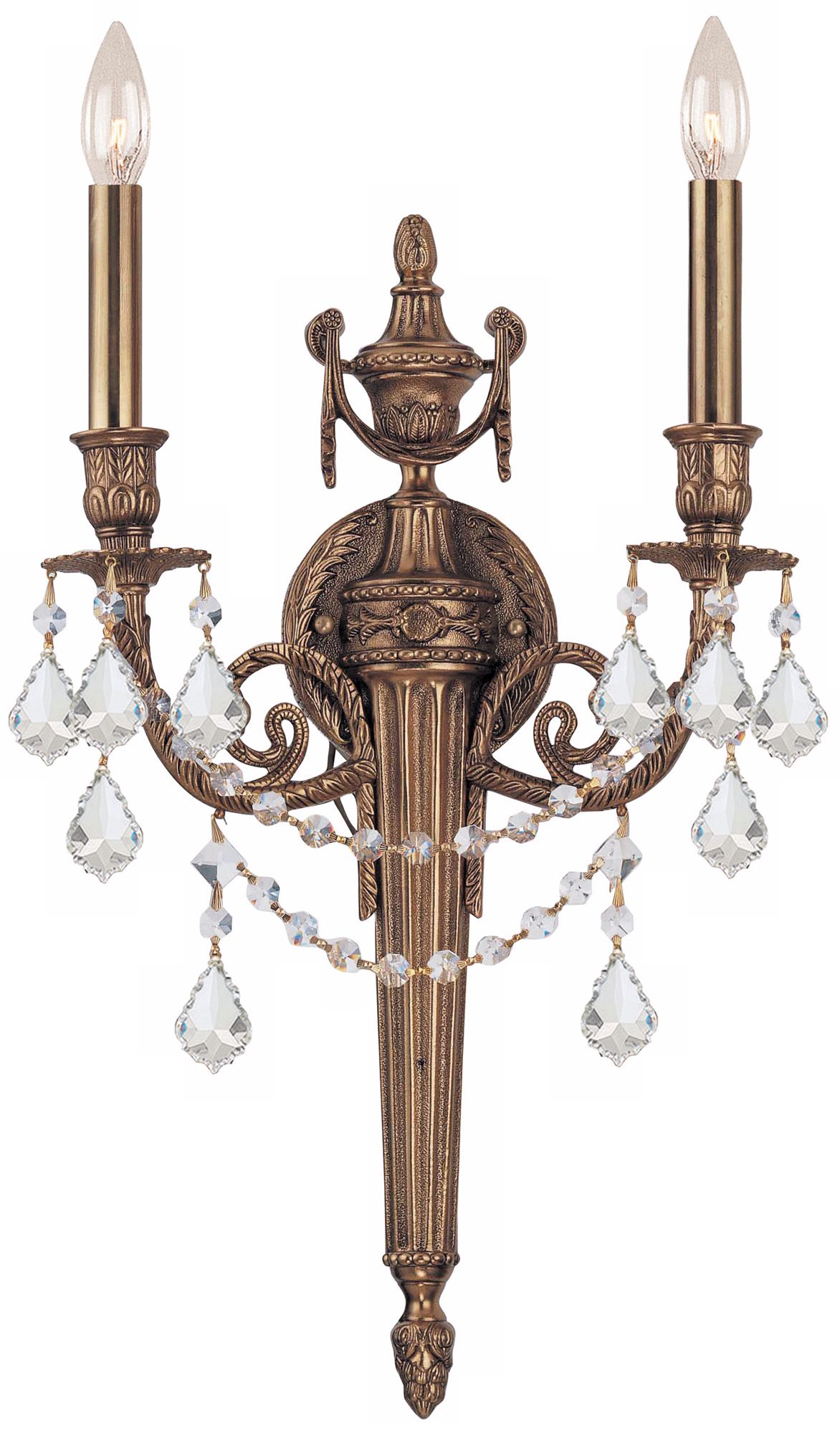 Crystorama Arlington Collection 24  High 2-Light Wall Sconce  sc 1 st  L&s Plus & Traditional Wall Sconces - Decorative Traditional Sconces | Lamps Plus azcodes.com