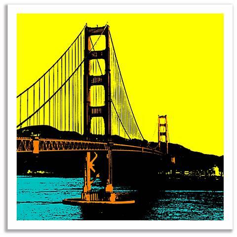 san francisco bay wall art p3628 lamps plus. Black Bedroom Furniture Sets. Home Design Ideas