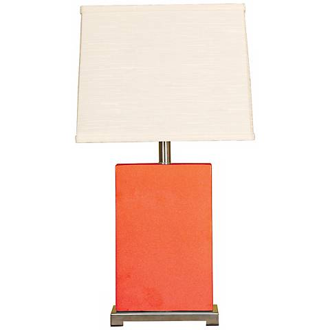 Splash Collection Coral Ceramic Rectangular Table Lamp