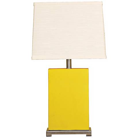 Splash Collection Mimosa Ceramic Rectangular Table Lamp