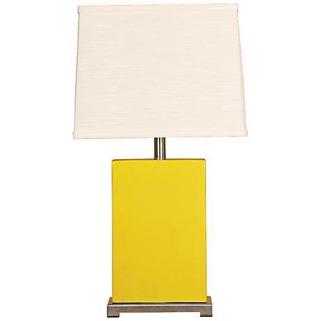 Splash Collection Mimosa Ceramic Rectangular Table Lamp