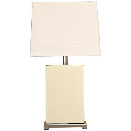 Splash Collection Vanilla Ceramic Rectangular Table Lamp